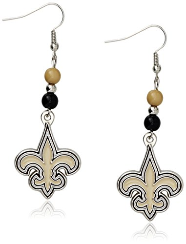 Siskiyou NFL Fan Bead Dangle Earrings