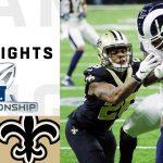 Rams vs. Saints NFC Championship Highlights | NFL...