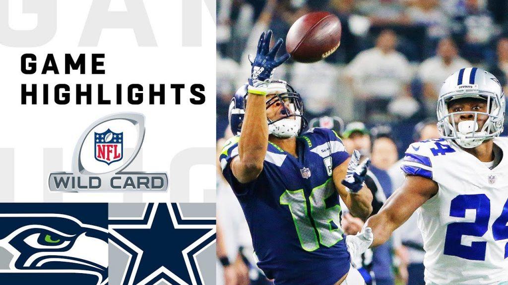 Seahawks vs. Cowboys Wild Card Round Highlights |...