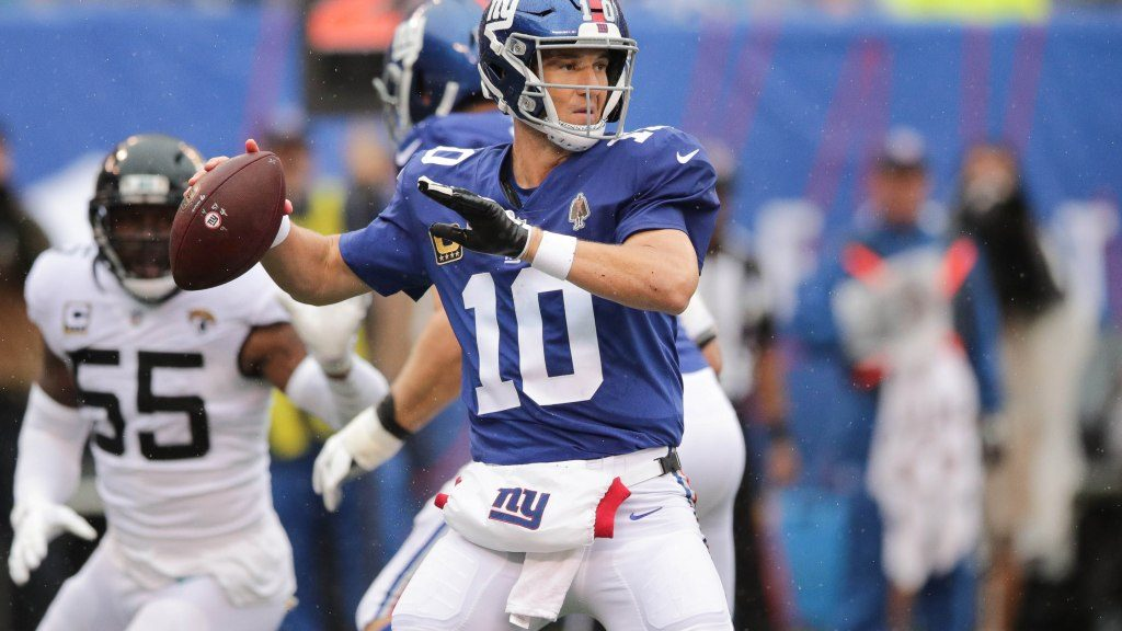 Eli Manning content going year-to-year with New...