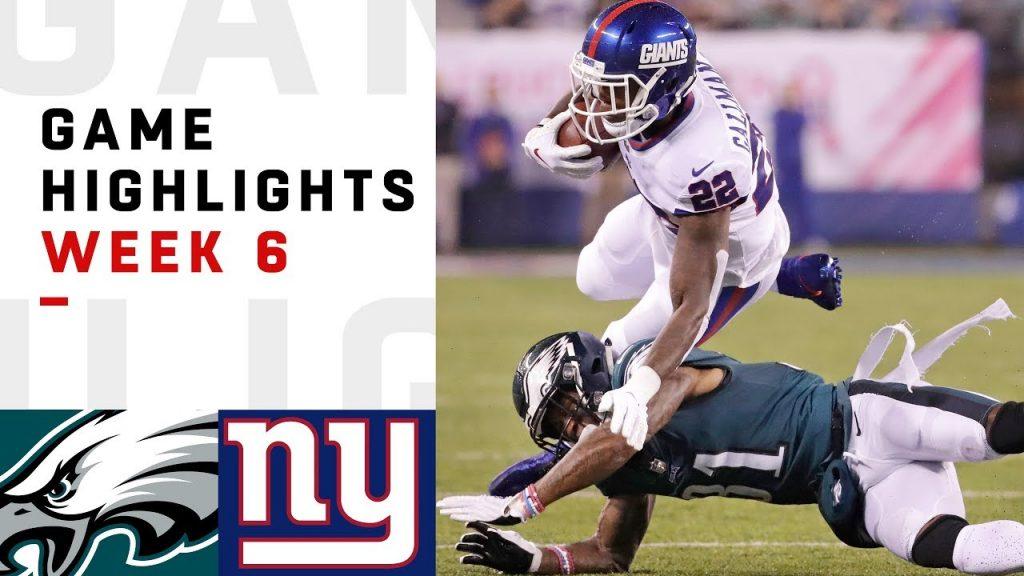 Eagles vs. Giants Week 6 Highlights | NFL 2018