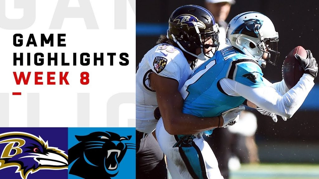 Ravens vs. Panthers Week 8 Highlights | NFL 2018