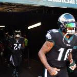 DeSean Jackson leaves game vs. Bears with abdomen...