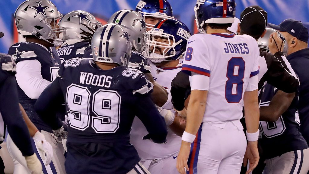 4 Cowboys fined for dirty play, taunting of New...