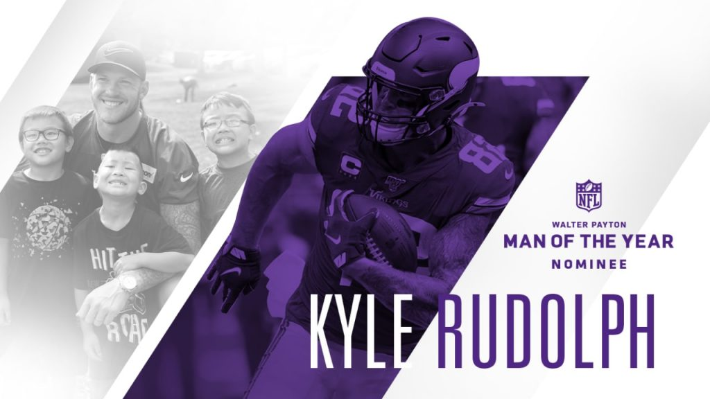 Kyle Rudolph Announced as Vikings 2019 Walter...