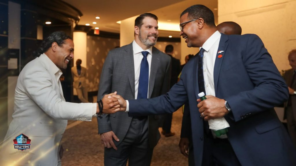 Years after meeting, Steve Atwater and Troy...